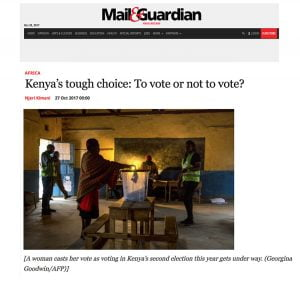 Kenya's tough choice: To vote or not to vote?