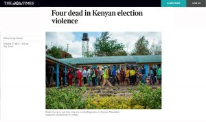 Four dead in Kenyan election violence
