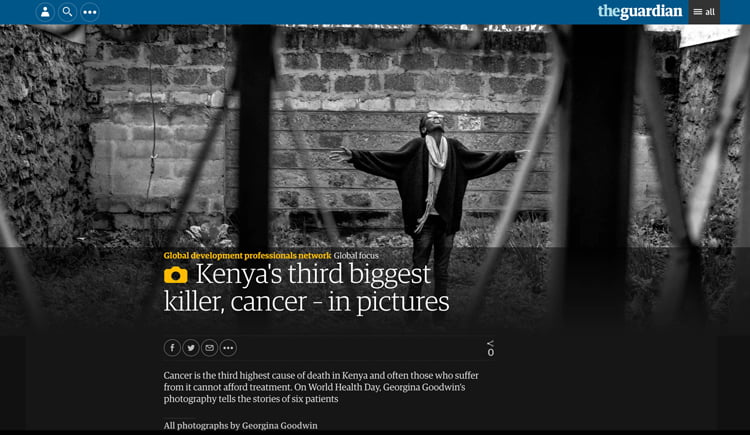 Kenya's third biggest killer, cancer – in pictures