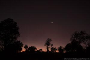sunrise star crescent moon night photography masai mara